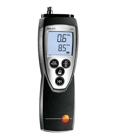 Testo 512 differenstrykmåler  0-2 mbar (HPa)