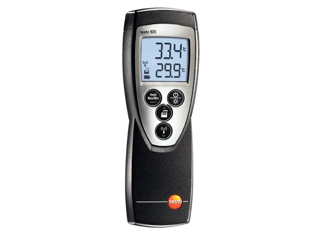 Testo 925 termometer. Termometer med stort måleområde. Der er mulighed for  at tilslutte flere slags temperaturfølere. Professionelt måleudstyr fra  Testo. 584d1d464da36