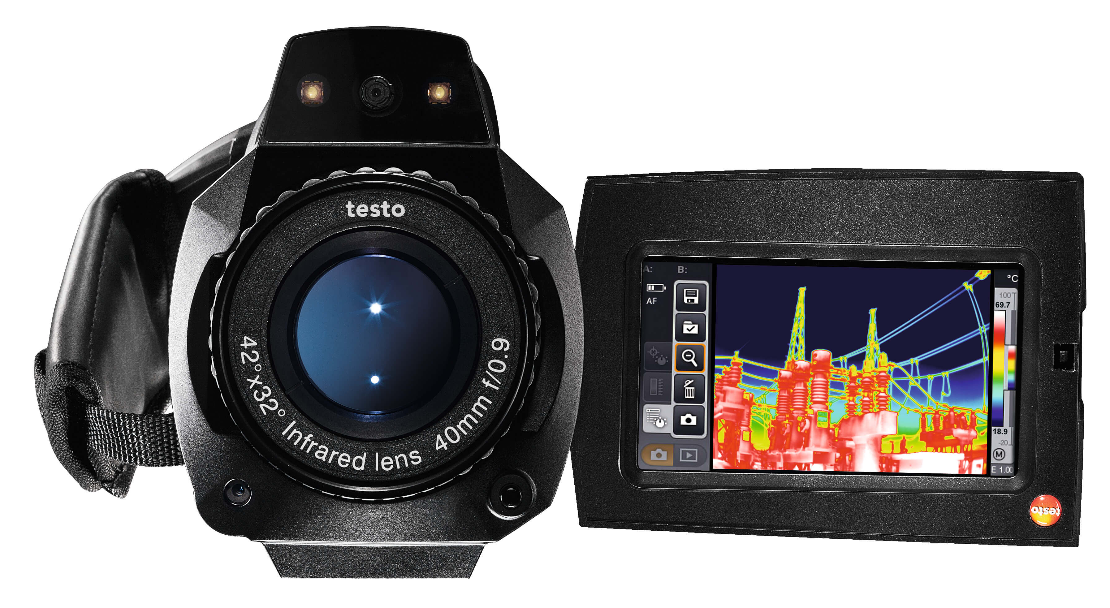 Termografikamera Testo 890-1 med app, streaming og video
