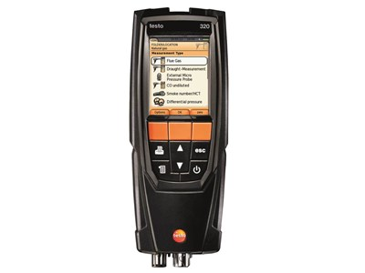 Testo 320 analysator m/O2 & CO