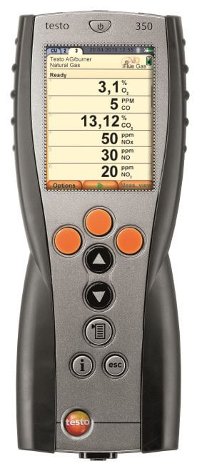 Testo 350  kontrolenhed med Bluetooth